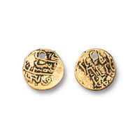 Maldive Larin Drop, Antiqued Gold Plate, 20 per Pack