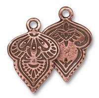 Mehndi Charm, Antiqued Copper Plate, 20 per Pack