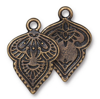 Mehndi Charm, Oxidized Brass Plate, 20 per Pack