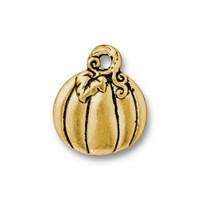 Pumpkin Drop, Antiqued Gold Plate, 20 per Pack