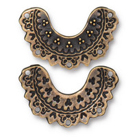 Marrakesh Link, Oxidized Brass Plate, 20 per Pack