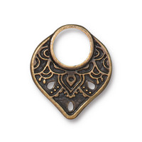 Temple Ring Link, Oxidized Brass Plate, 20 per Pack