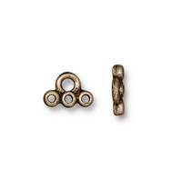 Stitch-in Connector Link, Oxidized Brass Plate, 20 per Pack