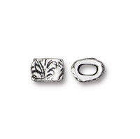 Jardin 4x2mm Barrel Bead, Antiqued Silver Plate, 20 per Pack