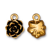 Succulent Charm, Antiqued Gold Plate, 20 per Pack