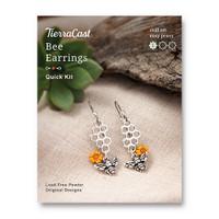 Bee Earrings Kit, 1 per Pack