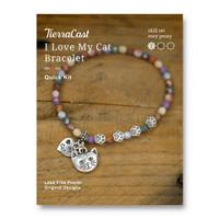 I Love My Cat Bracelet Kit, 1 per Pack