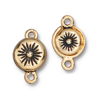Starburst Magnetic Clasp, Antiqued Gold Plate, 5 per Pack