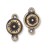 Starburst Magnetic Clasp, Oxidized Brass Plate, 5 per Pack