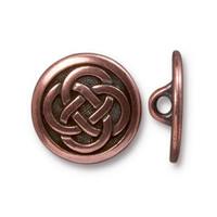 Celtic Knot Button, Antiqued Copper Plate, 20 per Pack