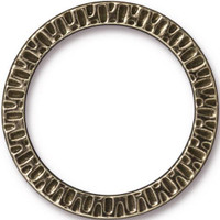 Radiant Ring 1 1/4 inch, Oxidized Brass Plate, 10 per Pack