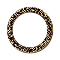 Spiral Ring 1 inch, Antiqued Gold Plate, 20 per Pack