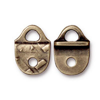 Rock & Roll Strap Tip, Oxidized Brass Plate, 20 per Pack