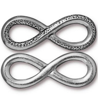 Infinity Link, Antiqued Pewter, 10 per Pack