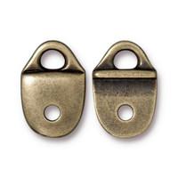Plain Strap Tip, Oxidized Brass Plate, 20 per Pack