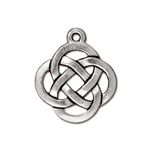 Open Round Pendant, Antiqued Silver Plate, 20 per Pack