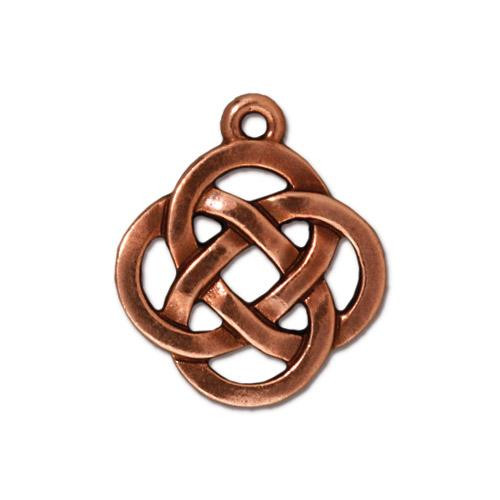 Open Round Pendant, Antiqued Copper Plate, 20 per Pack