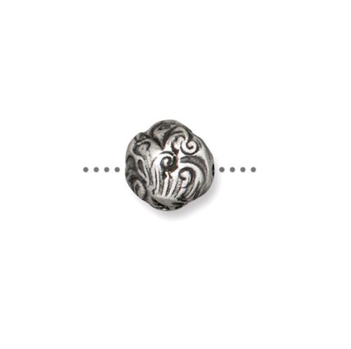Jardin 8mm Bead, Antiqued Pewter, 20 per Pack