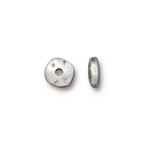 Nugget 7mm Spacer Bead, Antiqued Pewter, 100 per Pack