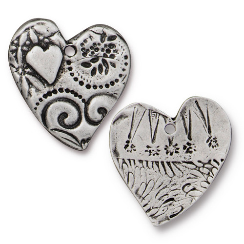 Amor Pendant, Antiqued Pewter, 10 per Pack