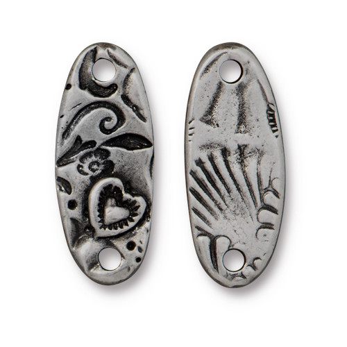 Amor Bar Link, Antiqued Pewter, 20 per Pack