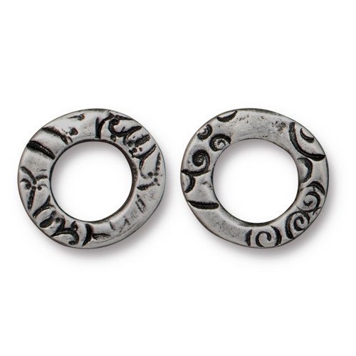 Flora Ring Small, Antiqued Pewter, 20 per Pack
