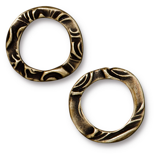 Flora Ring Medium, Oxidized Brass Plate, 20 per Pack