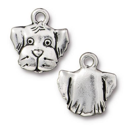 Spot Charm, Antiqued Silver Plate, 20 per Pack