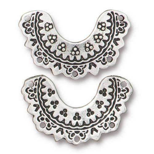 Marrakesh Link, Antiqued Silver Plate, 20 per Pack