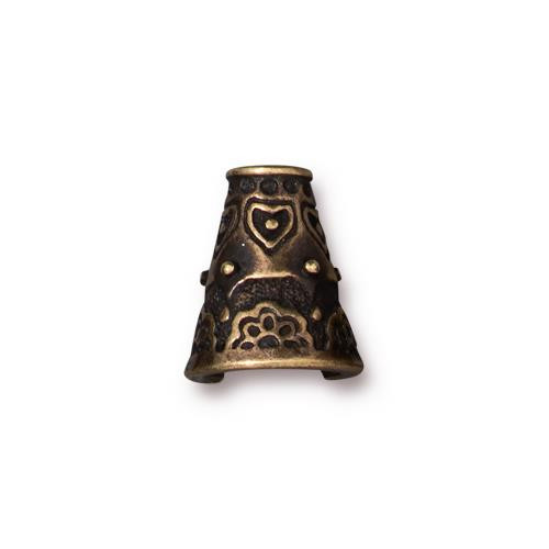 Flowering Cone, Oxidized Brass Plate, 10 per Pack