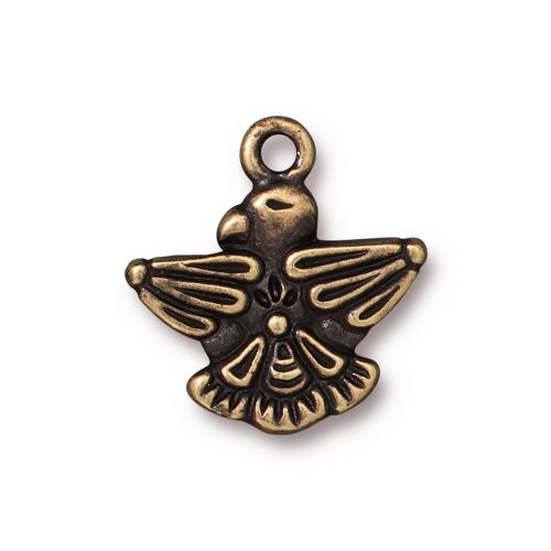 Thunderbird Charm, Oxidized Brass Plate, 20 per Pack