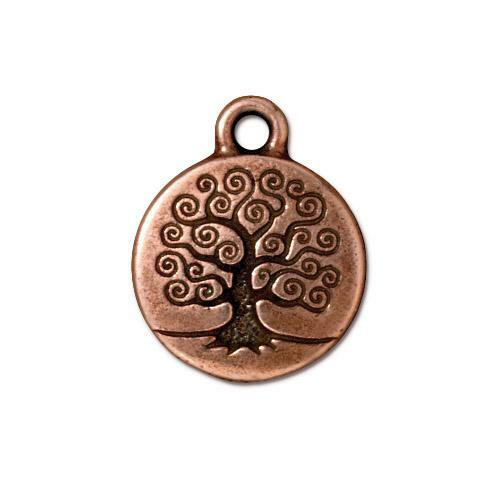 Tree of Life Charm, Antiqued Copper Plate, 20 per Pack