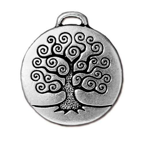 Tree of Life Pendant, Antiqued Silver Plate, 10 per Pack