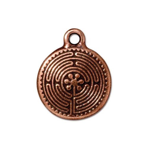 Labyrinth Charm, Antiqued Copper Plate, 20 per Pack