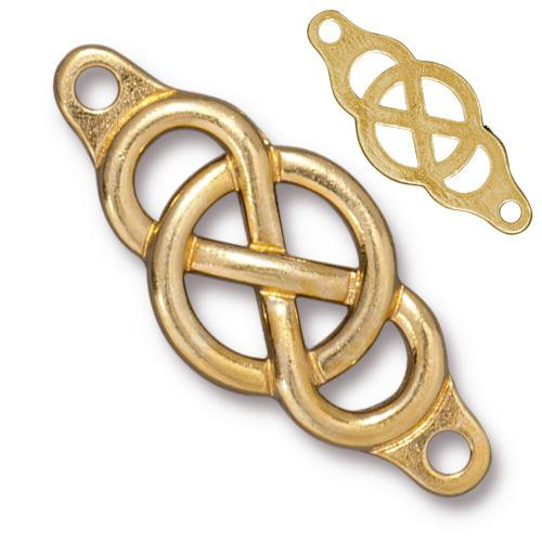 Infinity Centerpiece Link, Gold Plate, 10 per Pack