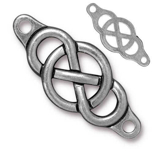 Infinity Centerpiece Link, Antiqued Pewter, 10 per Pack