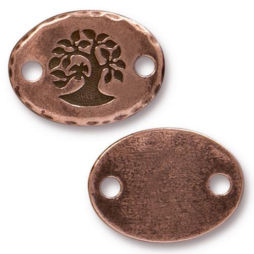 Bird In A Tree Link, Antiqued Copper Plate, 20 per Pack