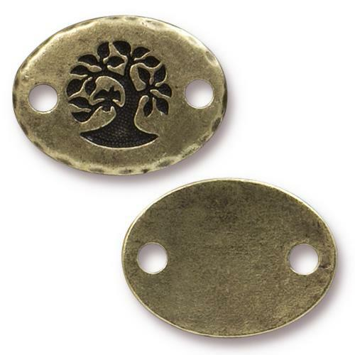 Bird In A Tree Link, Oxidized Brass Plate, 20 per Pack