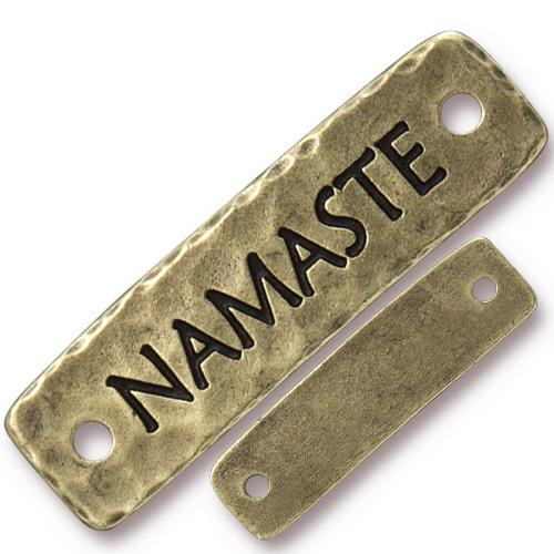 Namaste Link, Oxidized Brass Plate, 10 per Pack