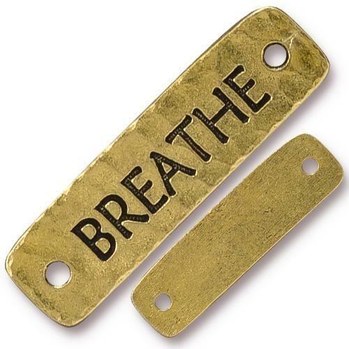 Breathe Link, Antiqued Gold Plate, 10 per Pack