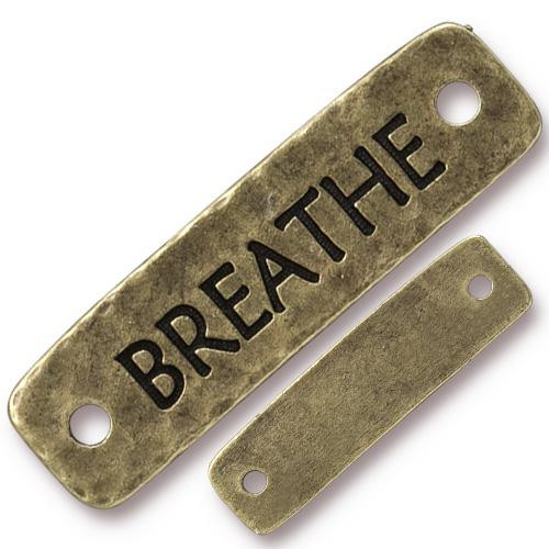 Breathe Link, Oxidized Brass Plate, 10 per Pack