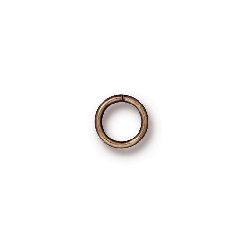Round Jump Ring 19 Gauge 5.5mm Inside Diameter, Oxidized Brass, 100 per Pack