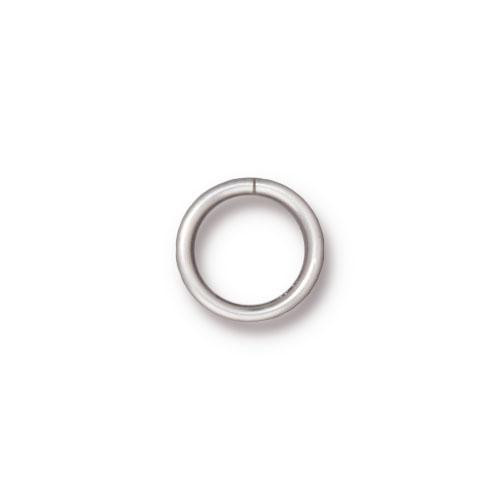 Round Jump Ring 18 Gauge 8mm Inside Diameter, Silver Plate, 100 per Pack