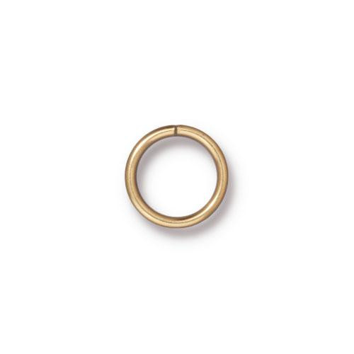 Round Jump Ring 18 Gauge 8mm Inside Diameter, Gold Plate, 100 per Pack