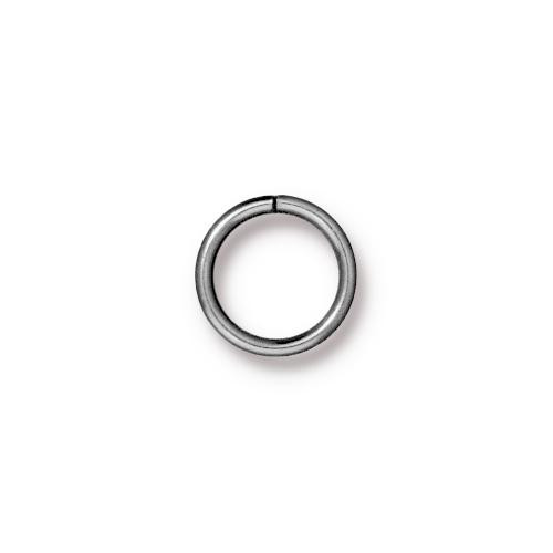 Round Jump Ring 18 Gauge 8mm Inside Diameter, Rhodium Plated, 100 per Pack