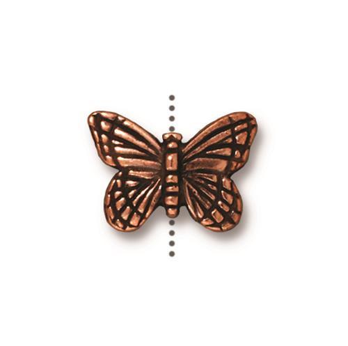 Monarch Bead, Antiqued Copper Plate, 20 per Pack