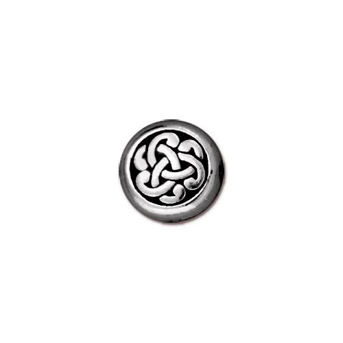 Circle Triad Bead, Antiqued Silver Plate, 20 per Pack