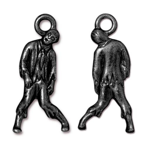 Zombie Charm, Black Plate, 20 per Pack