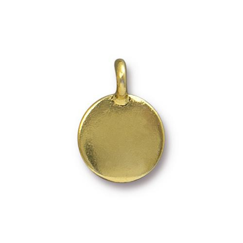 Blank Charm, Gold Plate, 20 per Pack