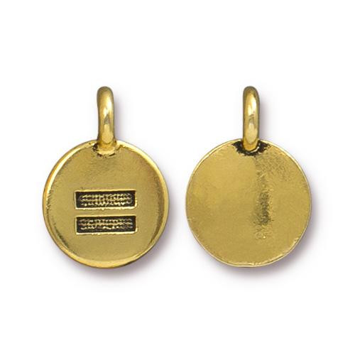 Equality Charm, Antiqued Gold Plate, 20 per Pack